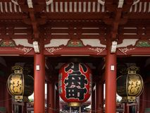Ornamental details of the Senso-Ji temple complex Royalty Free Stock Photography