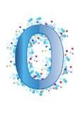 Ornamental Digit zero - vector Royalty Free Stock Image