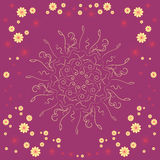 ornamental Diseño geométrico abstracto del vector Imagen de archivo libre de regalías