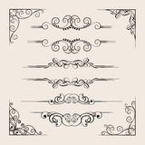 Ornamental dividers collection stock illustration