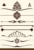 Ornamental dividers and decorations Royalty Free Stock Image