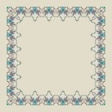 Ornamental doodling floral frame Royalty Free Stock Photography
