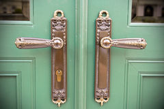 Ornamental Door Handles Stock Image
