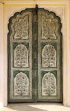 Ornamental door in palace - India Stock Photo