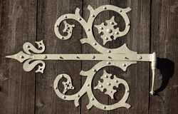 Ornamental Door Hinge Stock Photography