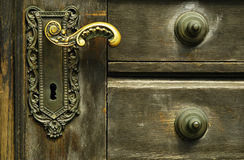 Ornamental door lock Royalty Free Stock Images