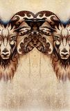 Ornamental drawing of Aries, sacred animal symbol. Ornamental drawing of Aries, sacred animal symbol stock photos