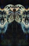 Ornamental drawing of Aries, sacred animal symbol. Color effect. Ornamental drawing of Aries, sacred animal symbol. Color effect stock photos