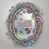 Ornamental easter egg frame Royalty Free Stock Photography