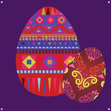 Ornamental easter eggs Stock Photo