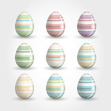 Ornamental easter eggs Stock Images