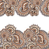 Ornamental eastern repeated stripe frame. Lace ethnic border Stock Photo