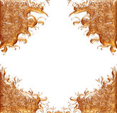 Ornamental Element in gold on isolated white. Stock Photography