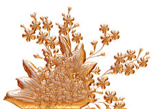 Ornamental Element in gold on isolated white. Stock Images
