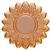 Ornamental Element in gold on isolated white. Royalty Free Stock Images