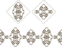 Ornamental elements and border for decor isolated on the white Royalty Free Stock Photos