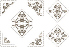 Ornamental elements and corners for decor isolated on the white Stock Image