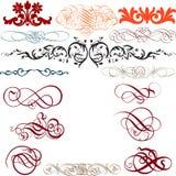 Ornamental Elements. 15 Ornamental Decorative Elements Royalty Free Stock Photos