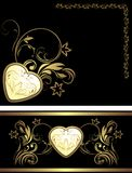 Ornamental elements with heart for decor Royalty Free Stock Photo