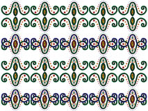 Ornamental elements. Vector ornamental elements on white background Stock Image