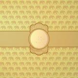 Ornamental elephant background Royalty Free Stock Photos