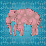Ornamental  elephant Stock Photo