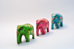Ornamental elephants Royalty Free Stock Image