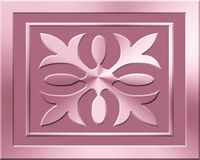 Ornamental emblem in two shades of Pastel Pink Stock Images