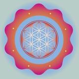 Seed inside ornamental esoteric lotus poster stock illustration