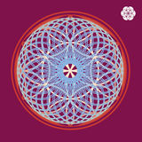Seed inside  esoteric spring mandala Royalty Free Stock Photos