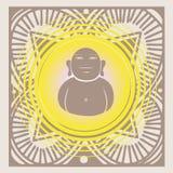 Budda inside spring mandala Stock Images
