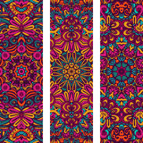Ornamental  ethnic banner set. Festive colorful ornamental  ethnic banner set Royalty Free Stock Photos