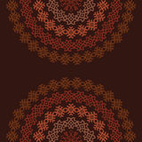Ornamental ethnic colorful half-round textures Royalty Free Stock Photography