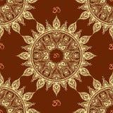 Ornamental ethnic mandala seamless pattern. Stock vector illustration Royalty Free Stock Image