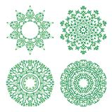 Ornamental ethnicity green pattern Royalty Free Stock Image