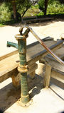 Ornamental extraction pump water in the gardens of Joan Brossa Stock Photography