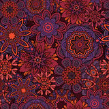 Ornamental fantasy floral seamless pattern Royalty Free Stock Photography