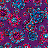 Ornamental fantasy floral vector seamless pattern Stock Photos