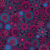 Ornamental fantasy floral vector seamless pattern Royalty Free Stock Photos