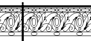 Ornamental fence. Stock Image