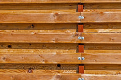 Ornamental fence made of planks 6 Royalty Free Stock Photos