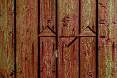 Ornamental fence made of planks 1 Royalty Free Stock Images
