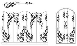 Ornamental-fence-set Stock Images