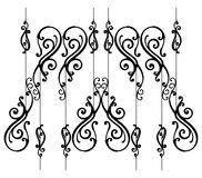 Ornamental-fence-set Stock Photography