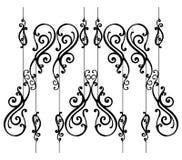 Ornamental-fence-set Stock Photography