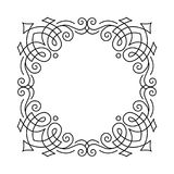 Ornamental filigree frame. Page decoration, border, divider. Calligraphy scroll pattern. Wedding, Greeting card design. Vector. Ornamental filigree frame. Page Royalty Free Stock Photos