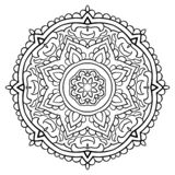 Ornamental filigree mandala. Vector filigree mandala with abstract elements, isolated on white background. Oriental ethnic ornament. Template for carpet and any vector illustration