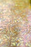 Gold copper silver ornamental pattern. Royalty Free Stock Photography