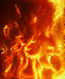 Ornamental Fire painting, and abstract structure Royalty Free Stock Photo