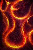 Ornamental Fire painting on black background. Stock Photos